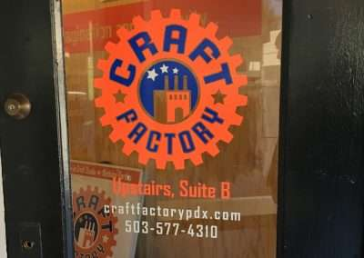 Craft Factory door vinyl