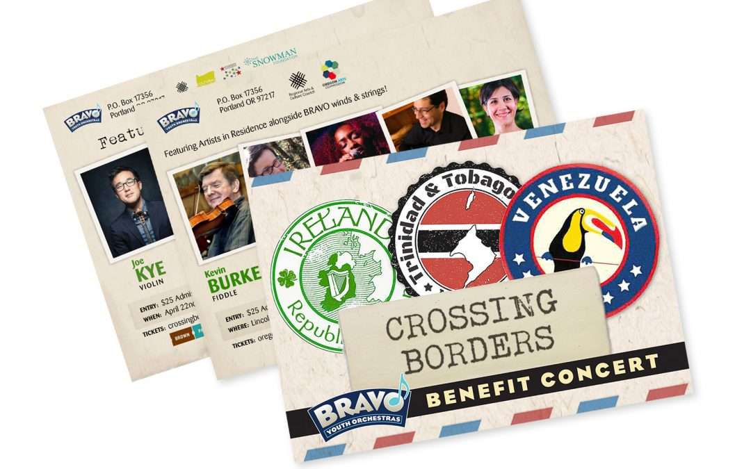 Crossing Borders postcard