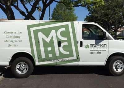 Mission City van graphics